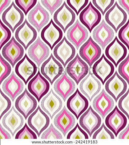 seamless ornament doodle pattern - stock vector