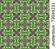Seamless ornamental oriental pattern vector background - stock vector