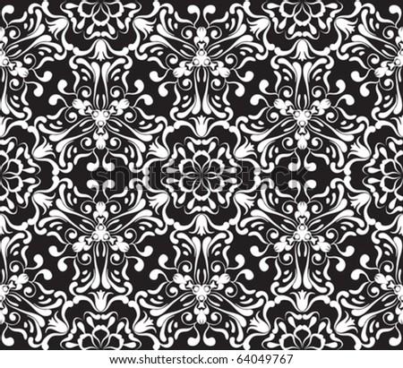 seamless ornamental pattern, vector illustration - stock vector