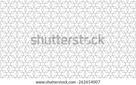 Seamless overlapping hexagons pattern vector - stock vector