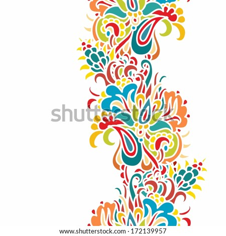 Seamless paisley vector pattern - stock vector