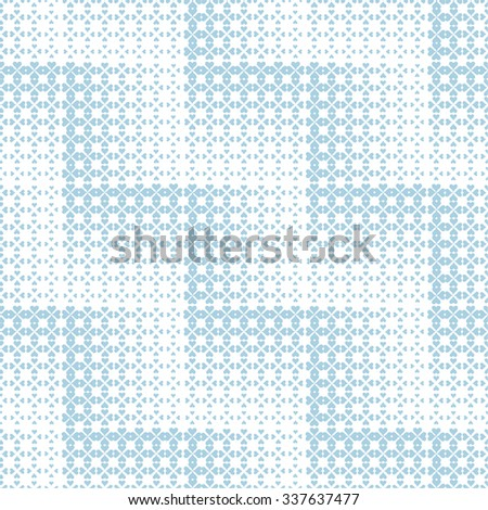 Seamless pattern. Abstract geometrical background. Modern stylish texture. Regularly repeating elegant tiles with zigzag, which consist of hearts of different size Vector element of graphical design - stock vector
