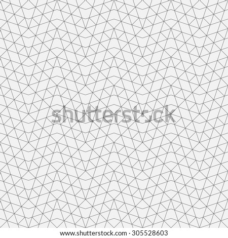 Seamless pattern. Abstract geometrical background. Original linear texture with repeating thin broken lines, polygons, difficult polygonal shapes. Vector element of graphical design - stock vector
