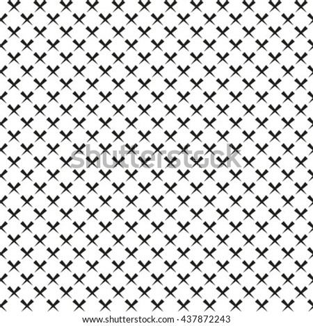 Seamless pattern. Abstract geometrical background. Regularly repeating elegant ornament with zigzags.  - stock vector