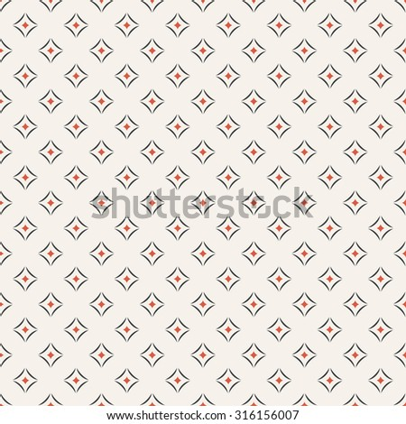 Seamless pattern. Abstract geometrical textured background. Modern stylish texture with repeating small rhombuses, and arcs. Vector element of graphical design - stock vector