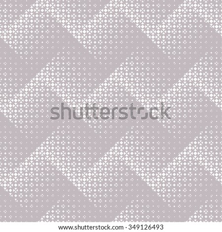Seamless pattern. Abstract halftone background. Modern stylish texture. Regularly repeating elegant zigzags, which consist of elements of the different size Vector element of graphical design - stock vector