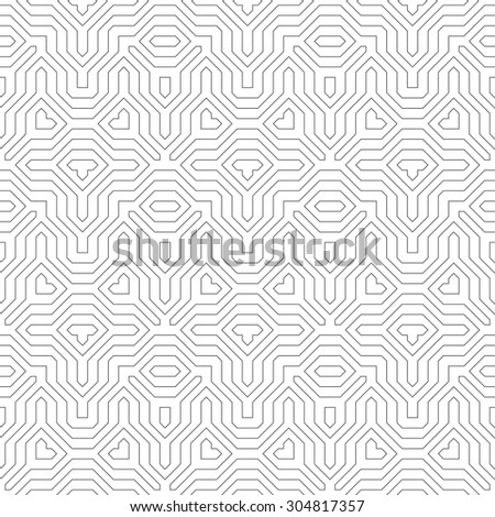 Seamless pattern. Abstract linear background. Original stylish texture with regularly repeating geometrical shapes, polygons, difficult polygonal forms. Vector element of graphic design - stock vector