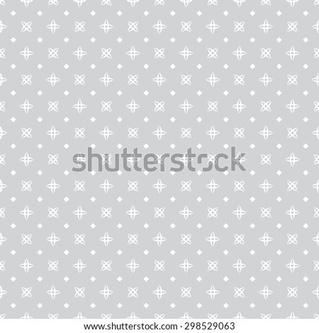 Seamless pattern. Abstract small textured background. Simple original texture with regularly repeating geometrical elements, shapes, stars, rhombuses. Vector element of graphic design - stock vector