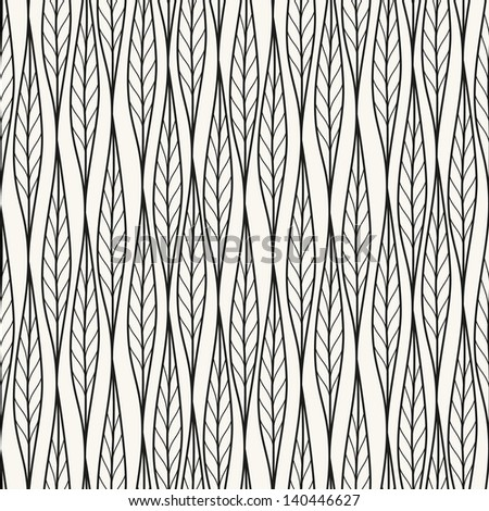 Seamless pattern. Antique ornament. Geometric stylish background. Vector repeating texture - stock vector