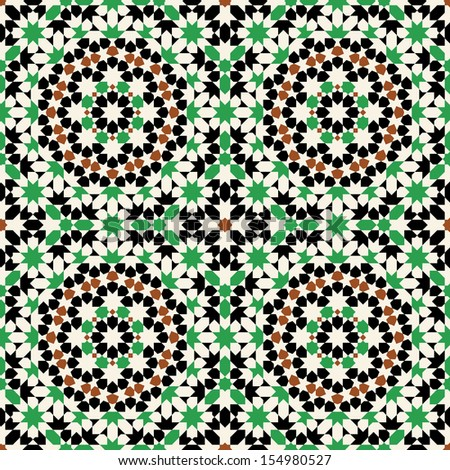 Seamless Pattern.  Arabic, islamic, colorful, traditional morocco background. - stock vector