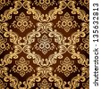 Seamless pattern background.Damask wallpaper. Vector illustration - stock vector