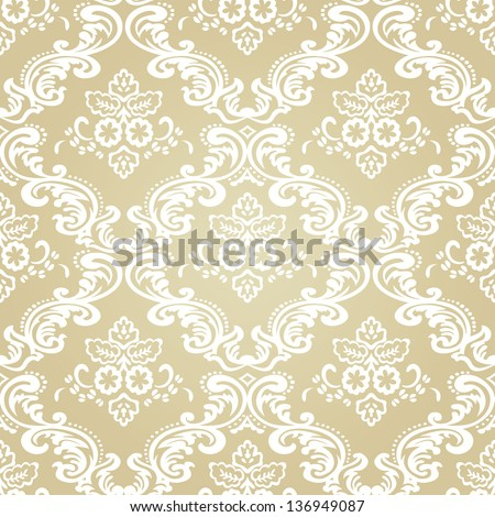 Seamless pattern background.Damask wallpaper.Vector illustration - stock vector