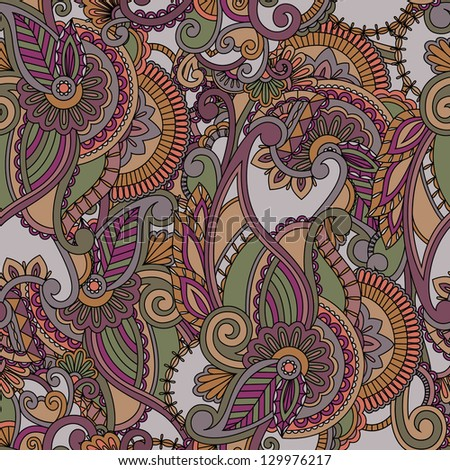 Seamless pattern background. Ethnic design - stock vector