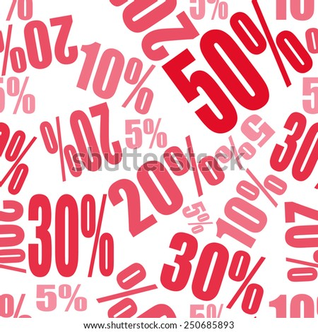 seamless pattern background with big sale percents off  - stock vector