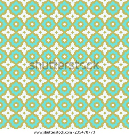 Seamless pattern  ceramic tile design with floral ornate.Endless texture.vector illustration. - stock vector