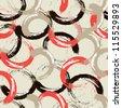 Seamless pattern circles - stock vector