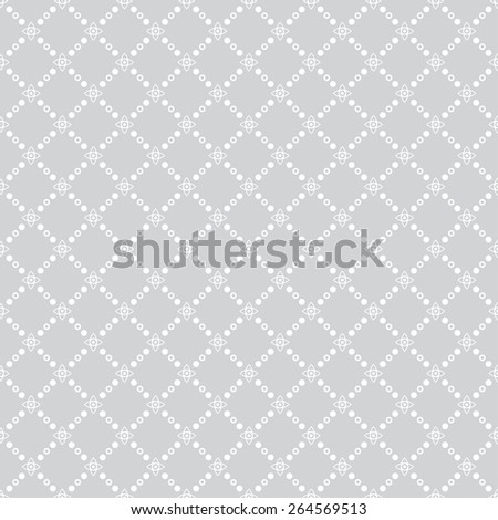 Seamless pattern. Classic geometric texture with dots and stars. Repeated diamonds, crosses, point. Monochrome. Backdrop. Web. Vector illustration - stock vector