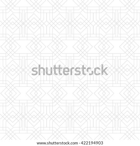 Seamless pattern, classical geometric texture. Repetitive geometric shapes, squares, rhombuses, crosses. Monochrome. Backdrop. Vector illustration for your design - stock vector