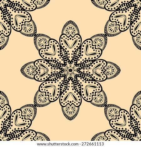 Seamless pattern. Design for dutch tile, background, textile - stock vector