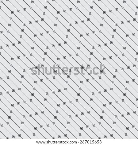Seamless pattern. Diagonal geometric texture with repeating geometric shapes. Line. Rhombus. Wave. Monochrome. Backdrop. Web. Vector illustration - stock vector
