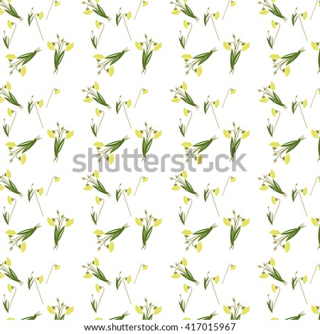 Seamless pattern floral background abstract vector illustration - stock vector