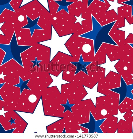 Seamless pattern for 4th of July, American Independence Day. - stock vector