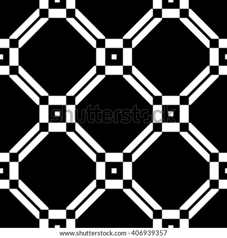 Seamless pattern. Geometric pattern with rhombus. Vector repeating texture - stock vector