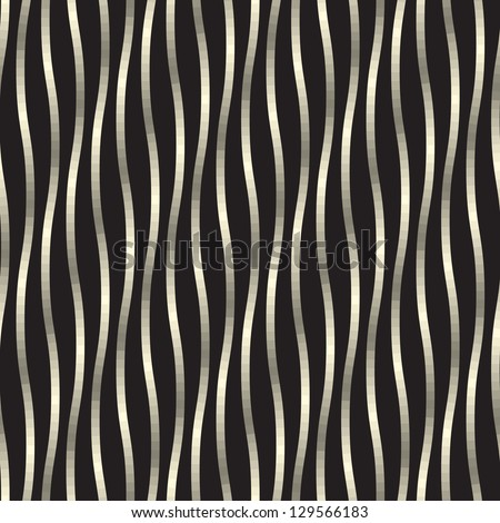 Seamless pattern. Golden texture. Luxury background with wavy iridescent stripes - stock vector