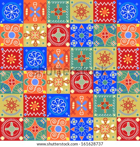 Seamless pattern  holiday cheerful bright  - stock vector