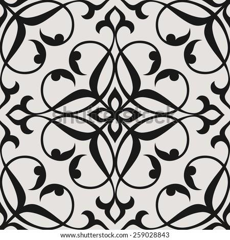 Seamless pattern in Arabic style. Arabesque. Vector illustration. - stock vector