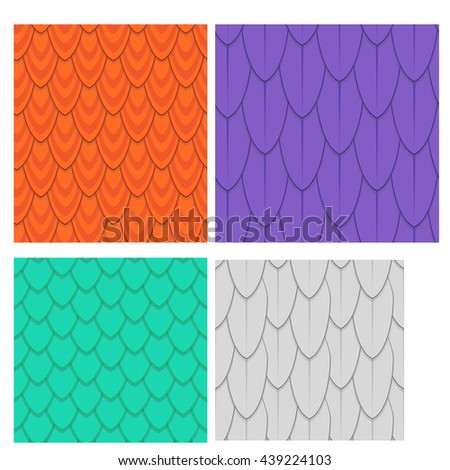 Seamless pattern in Bird Feather concept - stock vector