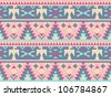 Seamless pattern in native American style #1 - stock vector