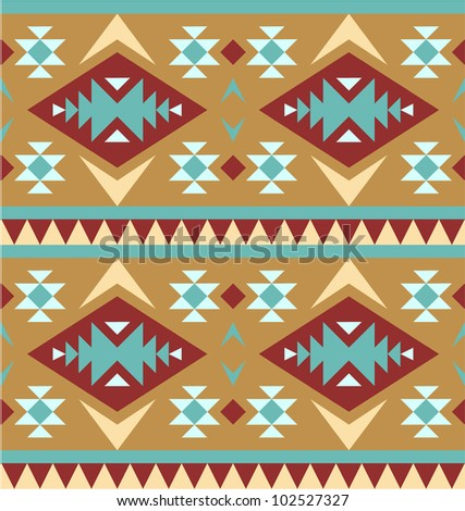 Seamless pattern in navajo style #4 - stock vector
