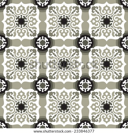 Seamless pattern in oriental style. Floor/wall tiles - stock vector
