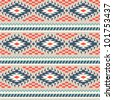 Seamless pattern in peruvian style - stock vector