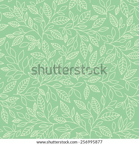 Seamless pattern, leaves on vinous background - stock vector