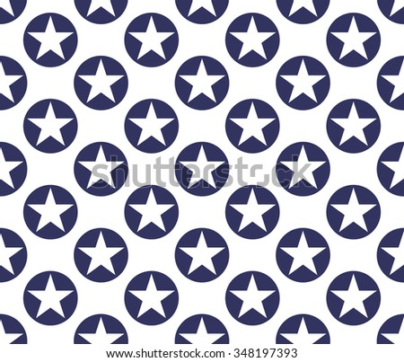 Seamless pattern made from stars in rings - stock vector