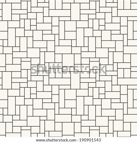 Seamless pattern. Mesh repeating texture. Linear grid with right angles - stock vector