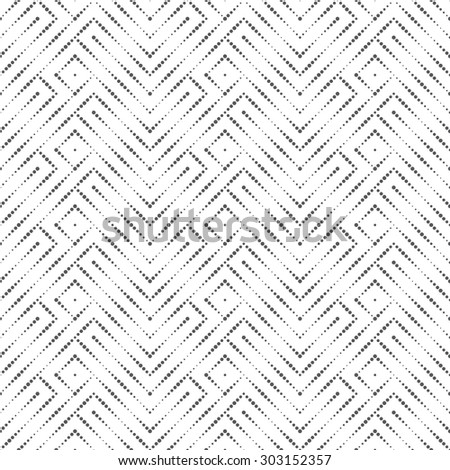 Seamless pattern. Modern abstract small textured background. Elegant texture with regularly repeating geometrical shapes, dots, rhombuses, zigzags. Vector element of graphical design - stock vector