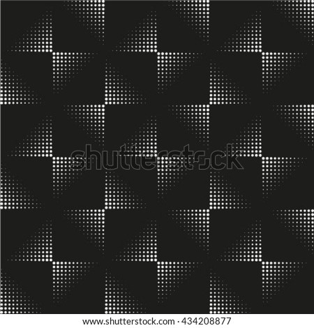Seamless pattern. Monochrome. Backdrop. Web. Vector illustration. Vintage geometric texture with repeated dots of different sizes. - stock vector