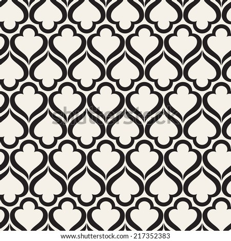 Seamless pattern. Monochrome ornament. Geometric stylish background. Vector repeating texture - stock vector