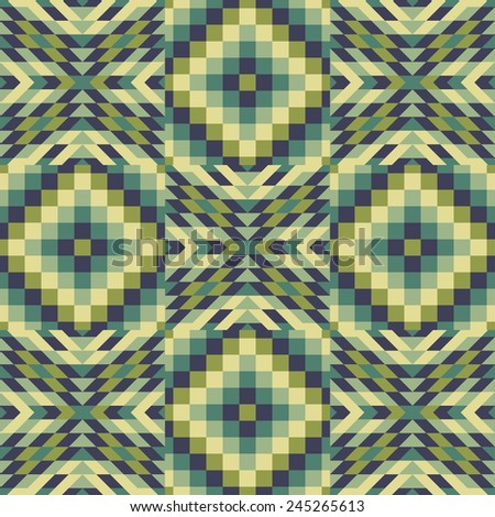 Seamless pattern. Mosaic. Template for design and decoration backgrounds, package, covers, textile. Abstract vector illustration. - stock vector