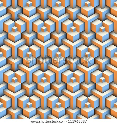 seamless pattern of blocks - stock vector