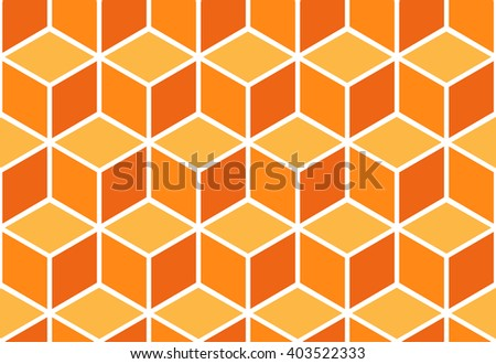 Seamless pattern of colored cubes. Endless cubic background. Optical illusion. - stock vector