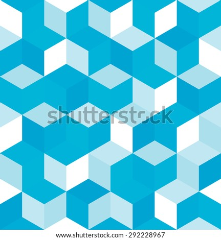 Seamless pattern of colored cubes. Endless multicolored cubic background. Cubical background. Abstract seamless background with cube decoration. Vector illustration. - stock vector
