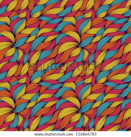 seamless pattern of colored curls - stock vector
