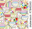 Seamless pattern of cup - stock vector