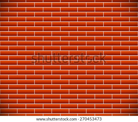 Seamless pattern of dark brickwork, brick wall. Repeatable. Eps10 Vector graphic - stock vector