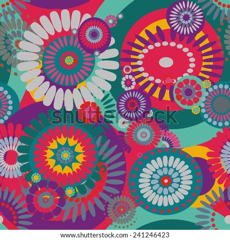 seamless pattern of decorative stylized flowers - stock vector