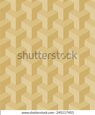 seamless pattern of gold colored blocks. each color in separate layer. - stock vector